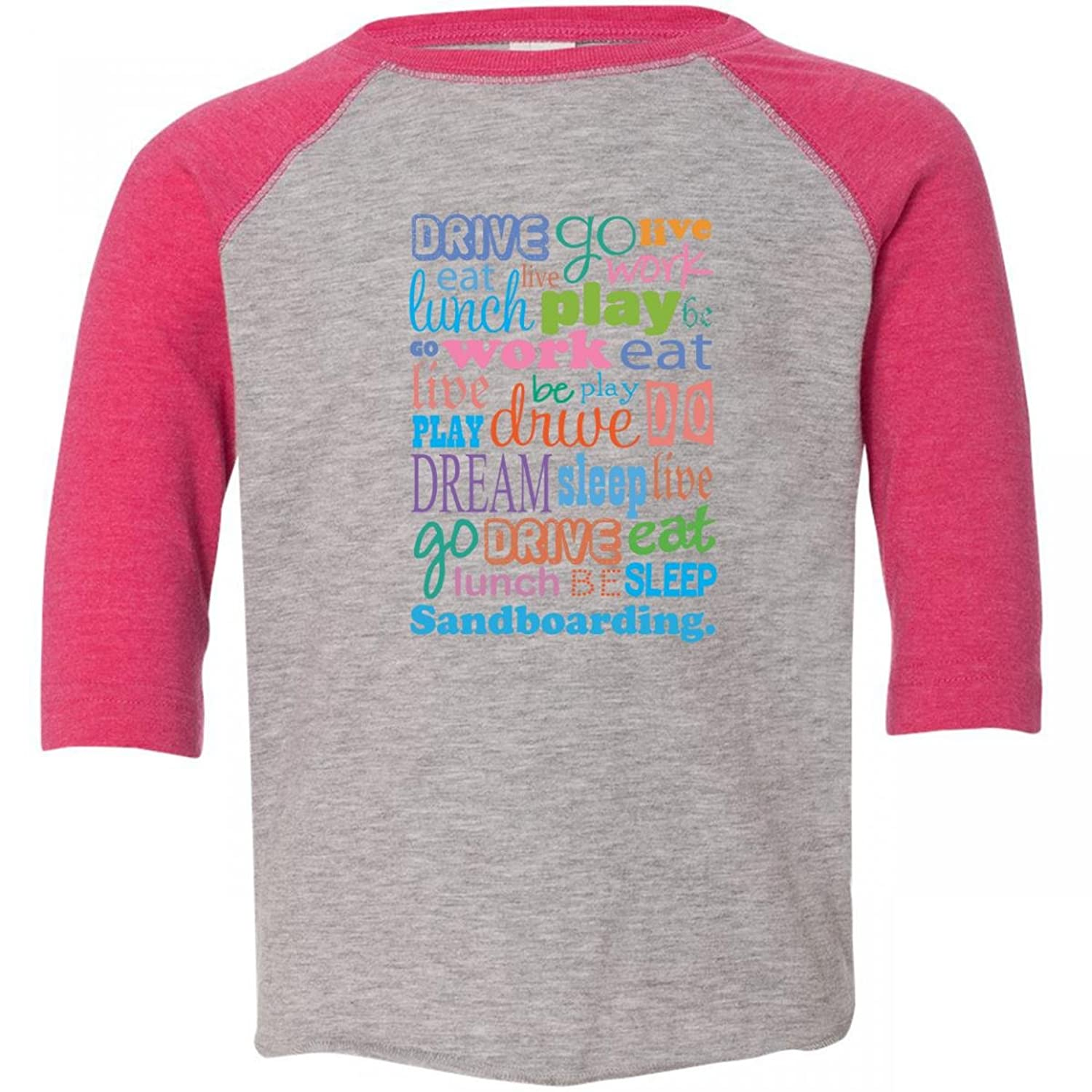Inktastic Little Boys' Live Dream Sand boarding Toddler T-Shirt inktastic little boys live dream sand boarding toddler t shirt