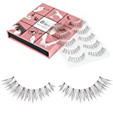 Fake Eyelashes WENIDA 5 Pairs 100% Handmade Long Soft Reusable, Natural look False Eyelashes (Color: YMX06, Tamaño: Pack of 5 Pair)