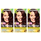 Garnier Nutrisse Nourishing Hair Color Creme, 415 Soft Mahogany Dark Brown, 3 Count (Packaging May Vary) (Color: 415 Soft Mahogany Dark Brown, Tamaño: 3 Count)