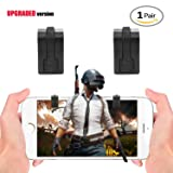 PUBG Mobile Game Controller - Sensitive Shoot and Aim Triggers for PUBG/Knives Out/Rules of Survival - Smaller Analog Gun Trigger Design - L1R1 Mobile Game Trigger Phone Game Controller (Color: black)