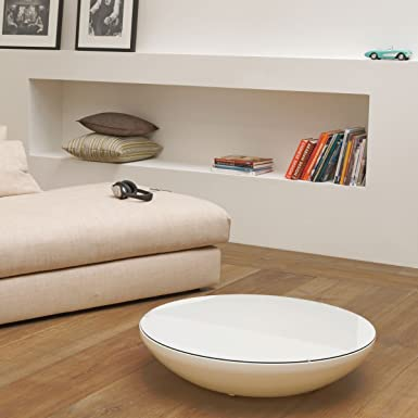 Moree Ltd. Lounge Variation Indoor-Table basse lumineuse, blanc ABS matière plastique Ø84cm