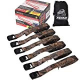 XSTRAP Cam Buckle Straps 6PK 8FT Powersports Tie-Downs 1-Inch Camouflage (Color: Camouflage)