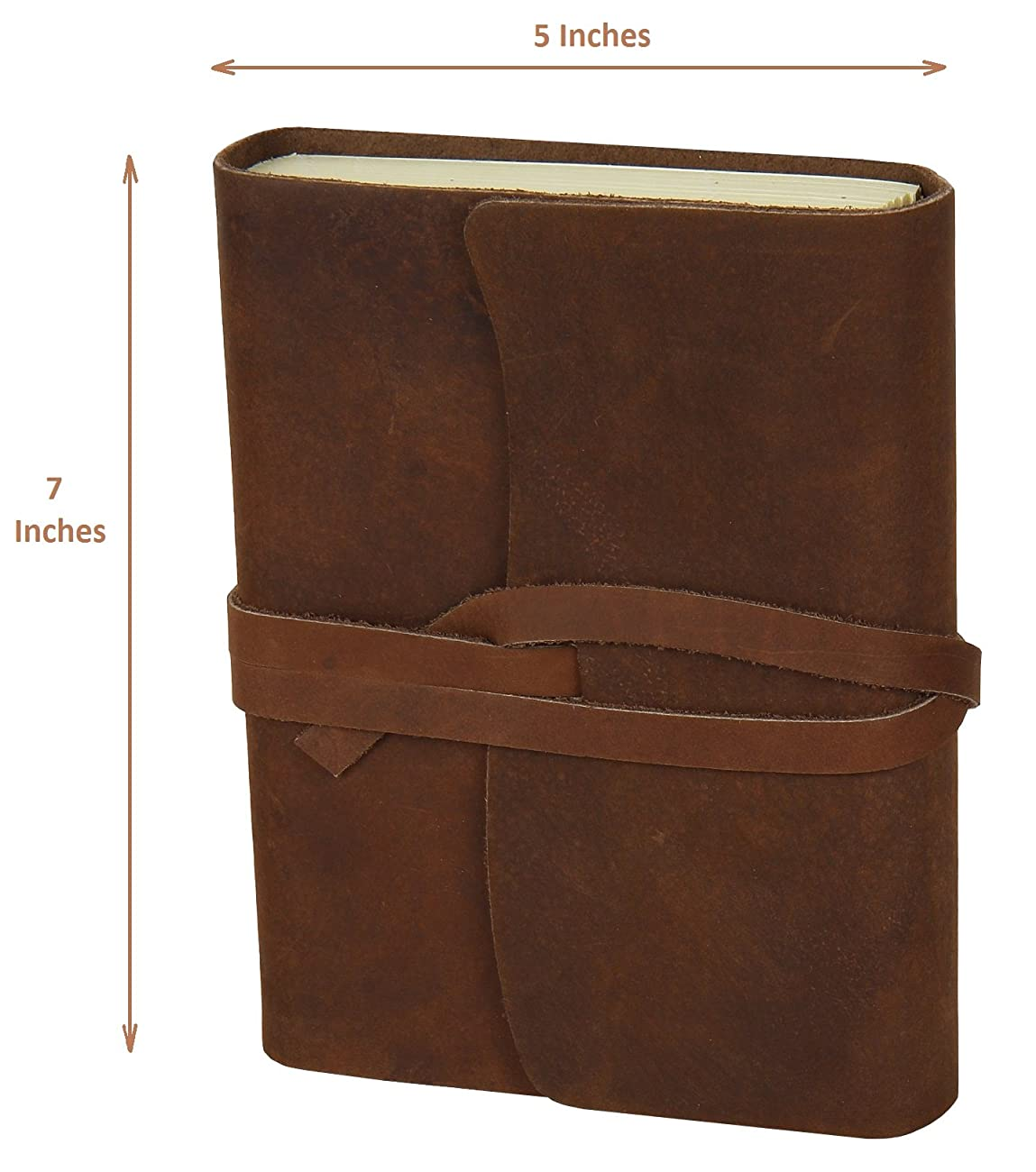 Handmade Medium Vintage Leather Journal Diary 0