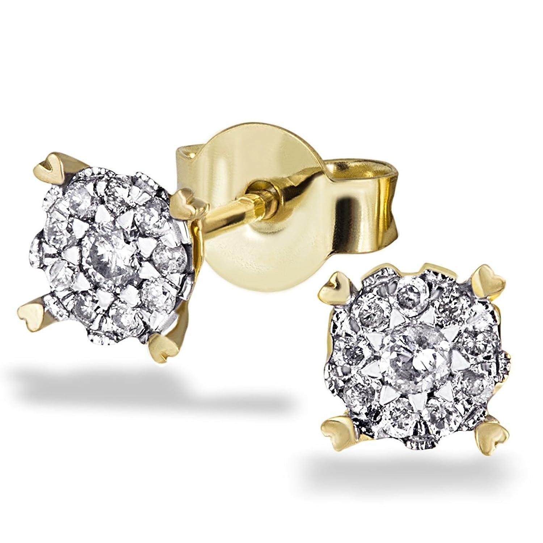 Goldmaid Damen-Ohrstecker 585 Gelbgold 20 Brillanten 0,22 ct. Pa O5017GG schenken