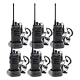 Winmoom intercoms Wireless for Home 2 Way radios Midland walkie talkies Waterproof Two-Way 2 Radios with Earpiece 6 Pack UHF 400-480Mhz 1800mAh Li-ion Battery and Charger Included (Color: 6pcs)