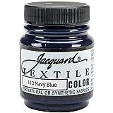 Jacquard Products TEXTILE-1113 Textile Color Fabric Paint, 2.25-Ounce, Navy Blue (Color: Navy Blue, Tamaño: 2.25-Ounce)