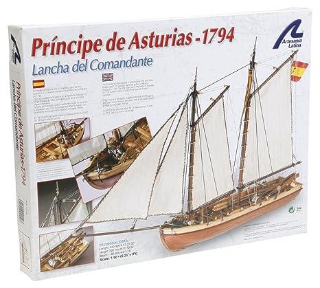Maquette en bois - Principe de Asturias : Canot du capitaine