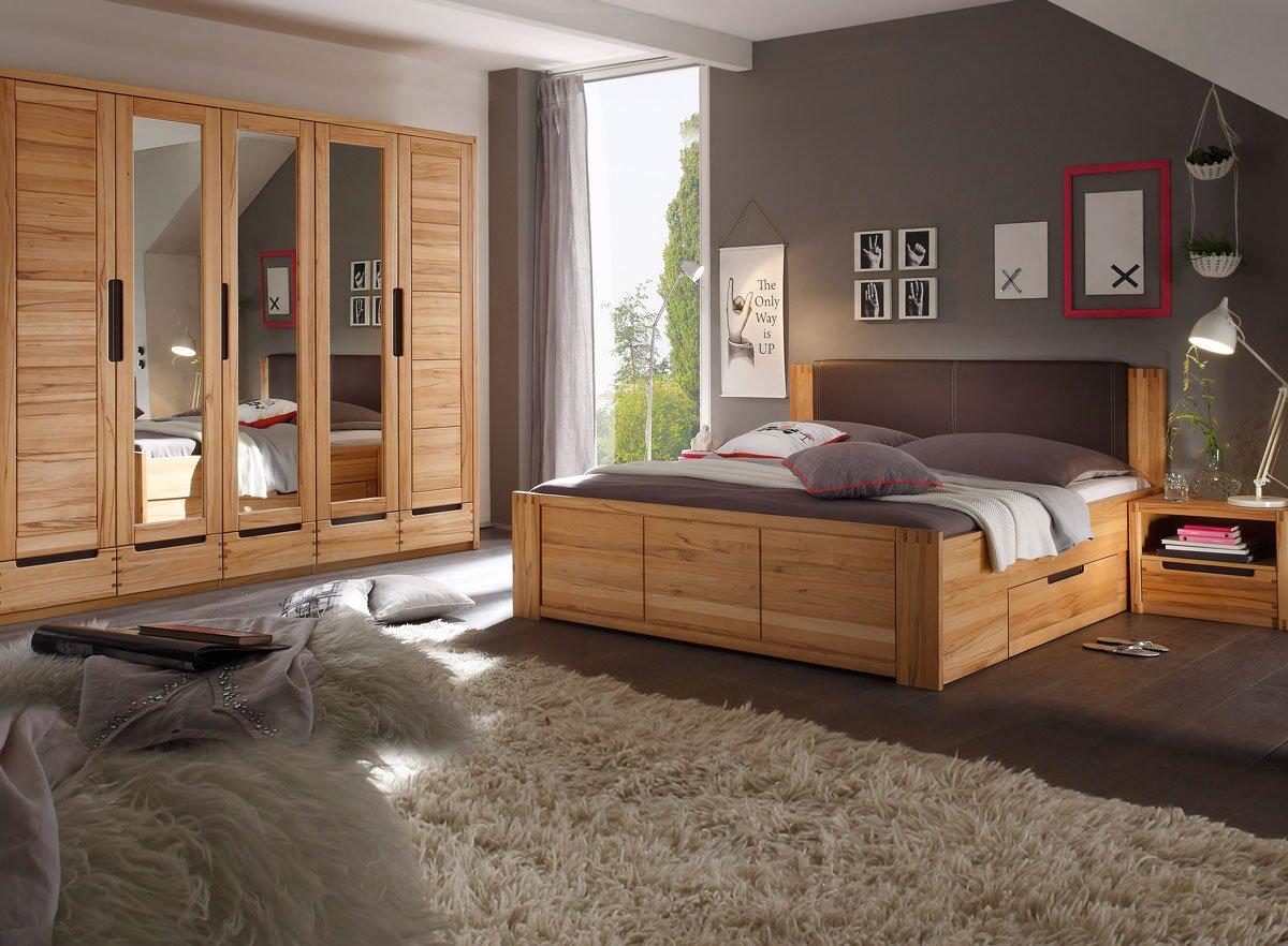 CHARLES Schlafzimmer Set Kernbuche teilmassiv online kaufen
