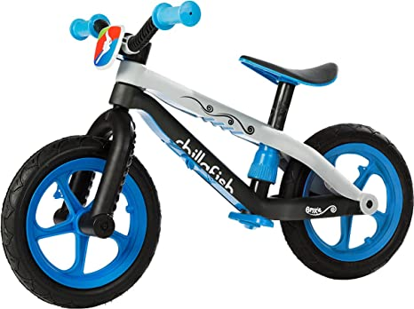 Chillafish BMXie-RS: BMX Balance Bike with Airless RubberSkin Tires, Blue (Motion of the Ocean) by Chillafish