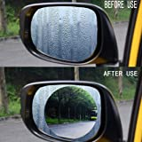 Rear View Mirror Film, 2 PCS Anti Fog Coating Waterproof Protective Film for Car Mirror (Color: Clear)