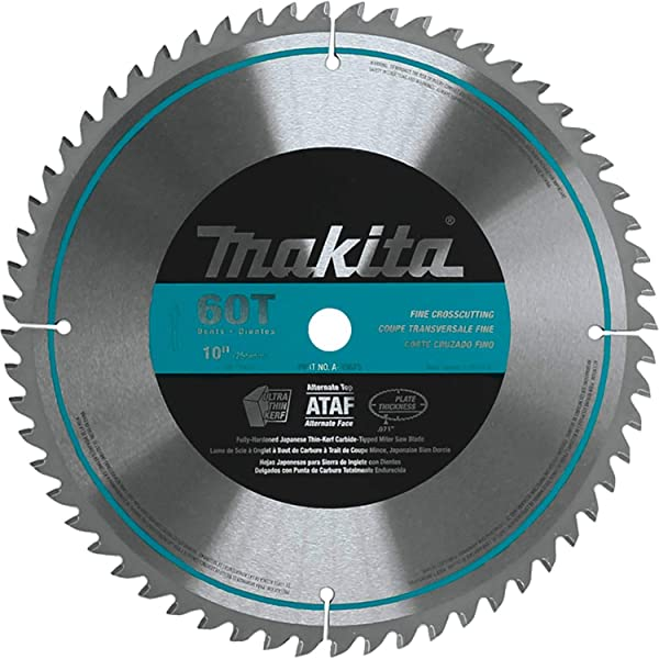 Makita A-93675 10-Inch 60 Tooth Micro Polished Mitersaw Blade (Color: Silver)