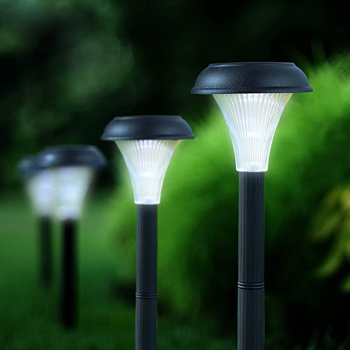 GardenBliss 10 Pack of Outdoor Solar Garden Lights for Your Yard Path Lawn and Landscape Lighting