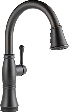 Delta Faucet 9197T-RB-DST Cassidy, Single Handle Pull-Down Kitchen Faucet with Touch2O Technology, Venetian Bronze