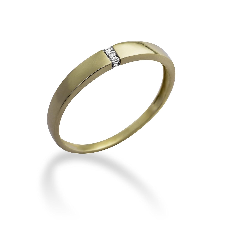 Miore Damen-Ring 9 Karat (375) Gelbgold mit 0.02ct Brillanten MP9067R kaufen