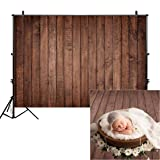 Allenjoy 8x6ft Fabric Vintage Brown Wood Backdrops for Newborn Photography Wrinkle Free Rustic Russet Grunge Wooden Floor Planks Wall Baby Portrait Still Life Product Photographer Photo Studio Props (Color: brown wood, Tamaño: 8'x6' Durable Fabric)