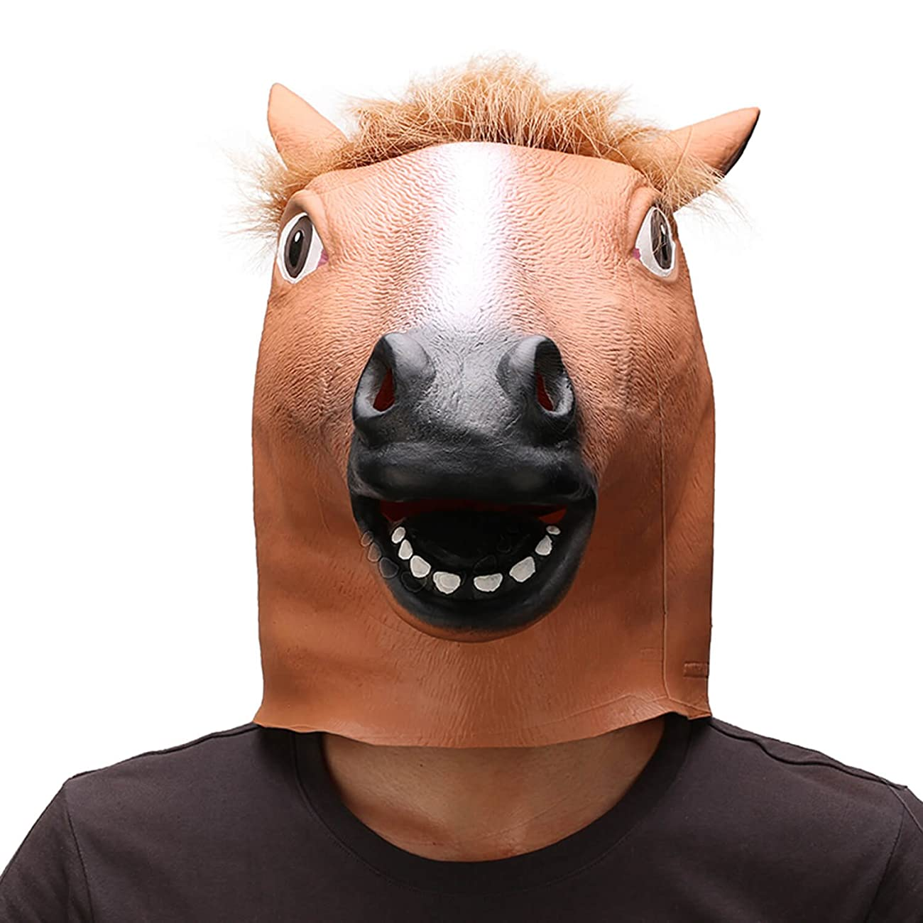 Ylovetoys Latex Horse Head Mask Halloween Costume Animal Masks 3