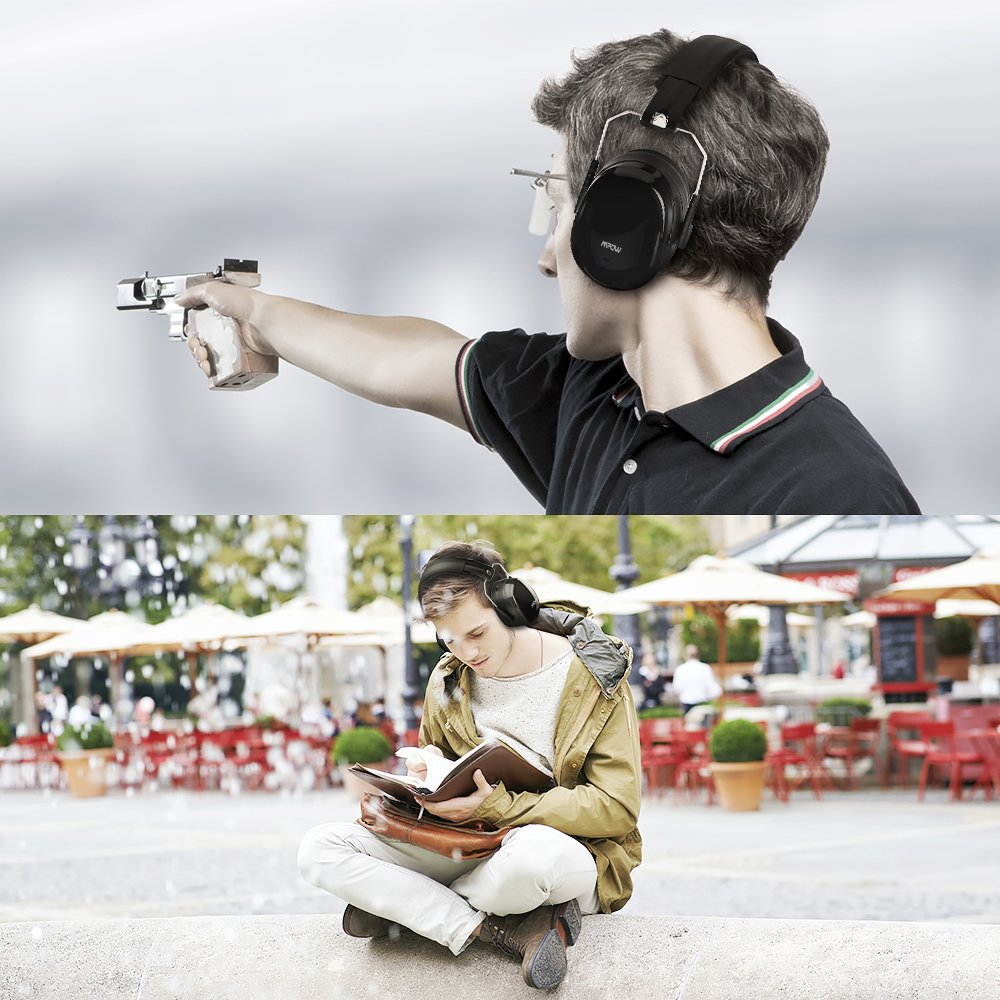 Mpow Safety Ear Muffs, Ear Protectors Shooters Hearing Protection EarMuffs Noise Canceling SNR 34dB / NRR 28dB, Professional Ear Defenders for Shooting Hunting