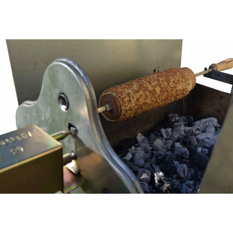 Baumstriezel Holzkohle Spießgrill 50 x 32 cm + Grillmotor günstig kaufen