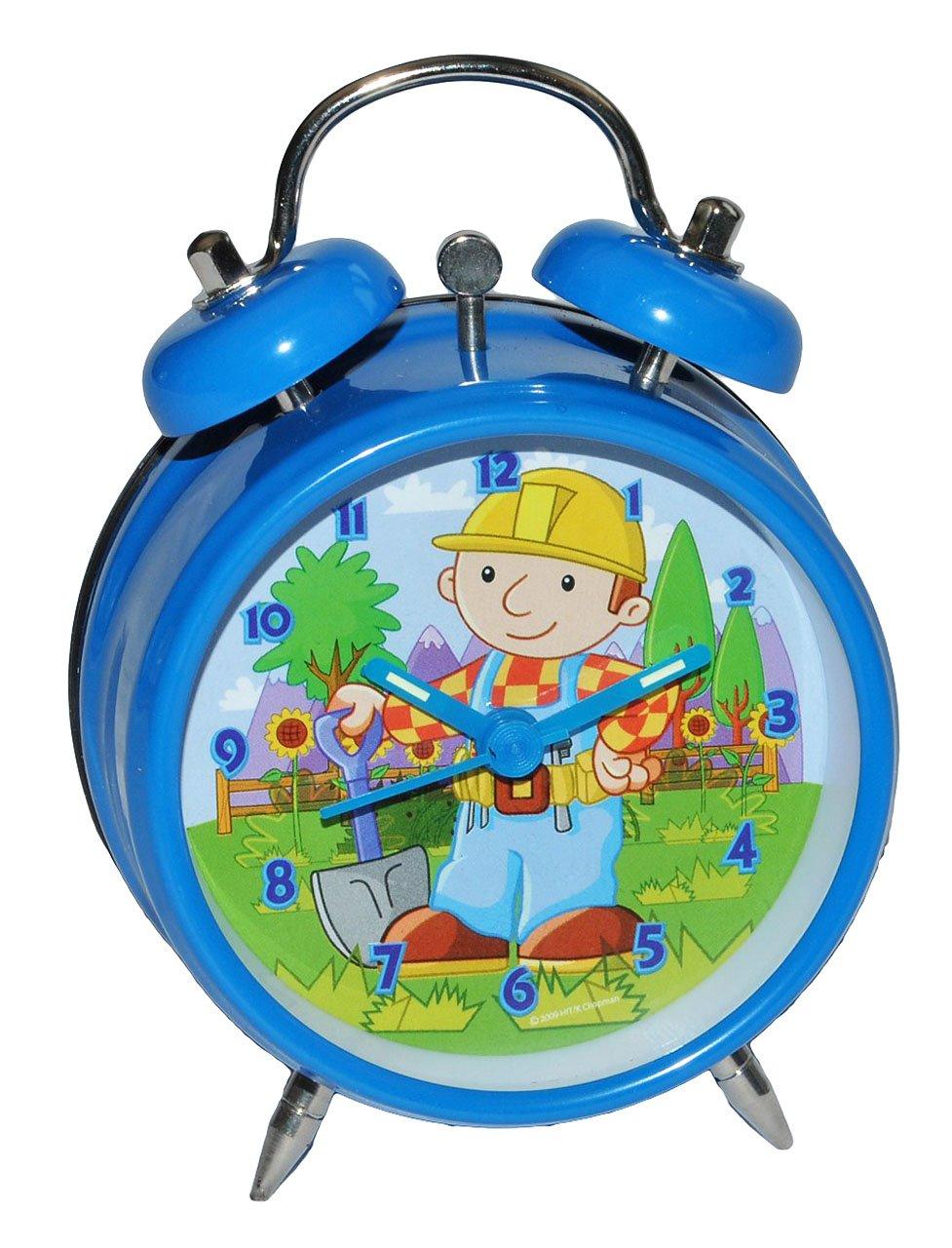 Kinderwecker Bob der Baumeister – für Kinder Metall Wecker Analog – Alarm Kinderwecker Metallwecker – Baustelle Jungen Baufahrzeuge blau günstig bestellen