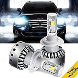 DLUMINA H7 LED Headlight Bulbs Conversion Kit, CREE XHP50 8,000Lm 6000K Xenon White, Low Beam Headlamp, High Beam Headlights, Fog Light, HID or Halogen Head light Replacement - 3 Year Warranty (Tamaño: H7)
