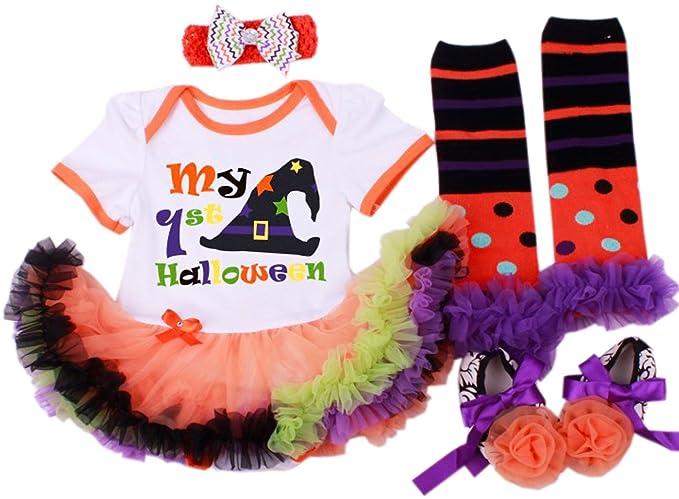 baby girlu0027s halloween costumes pumpkin tutu dress set cottonu0026 tulle hand wash size s for 36 months baby m for 69 months baby l for 912 months baby