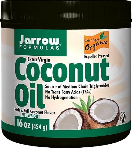زيت النارجيل العضوي الطبيعي Jarrow Formulas, Organic, Extra Virgin Coconut Oil, 16 oz (4