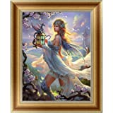 Adarl 5D DIY Diamond Painting Rhinestone Pictures of Crystals Embroidery Kits Arts, Crafts & Sewing Cross Stitch (Goddess) (Color: Goddess, Tamaño: 30*40cm/11.81*15.75inch)