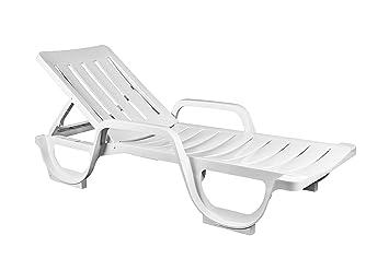 Siena Garden transat transat//chaise longue trépied xxl pliable alu argent//noir.