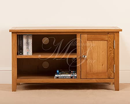 SOLID OAK SMALL WIDESCREEN TV LCD PLASMA CABINET STAND UNIT