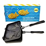 Happy Sales HSTYK1,  Taiyaki Pan Fish shape, 8W x 2H x 12L, Black (Color: Black, Tamaño: 8W x 2H x 12L)