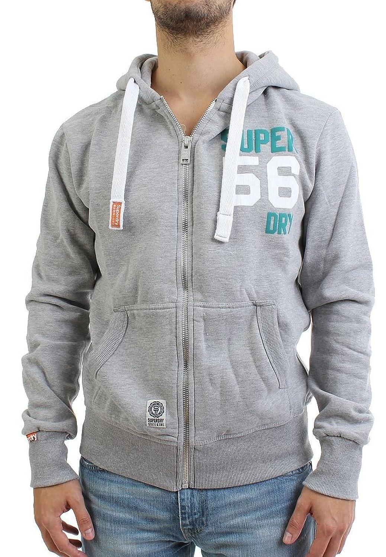Superdry Zipper Men - DOUBLE NUMBER - Grey Marl