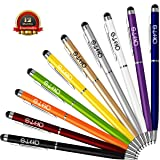 Stylus Pen, DHTS 10 Pcs 2 in 1 Slim Stylus, Ballpoint Pen for Universal Touch Screens Devices, iPhone 7, iPhone 6 Plus, iPad, Tablets, Samsung , 10 Color