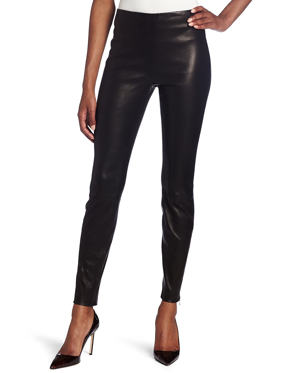 Elegant Womens Skinny Lin Slim Fit Black Denim Jeans From Nudie Jeans  Complete With Decorative Silvertone Rivets, A Leather Branded Waistband Patch To The Rear, And A Signature Nudie Jeans Woven Brand Tab To The Rear Right Pocket