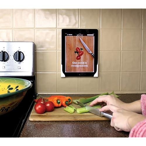 Dockemからの傷をつけないタブレット用壁面取り付けマウントKoala: iPad 1/2/3/4, Mini 1/2/3, Air, Air 2, Xperia Z, Samsung Galaxy Tab/Note, Nexus 7/10その他多機種に適応 (クローム)