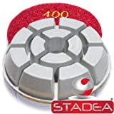 concrete granite floor polishing pads - Grit 400 By Stadea (Color: Pack of 1, Tamaño: Grit 400)