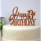 All About Details Happy 13th Birthday Cake Topper (Copper)