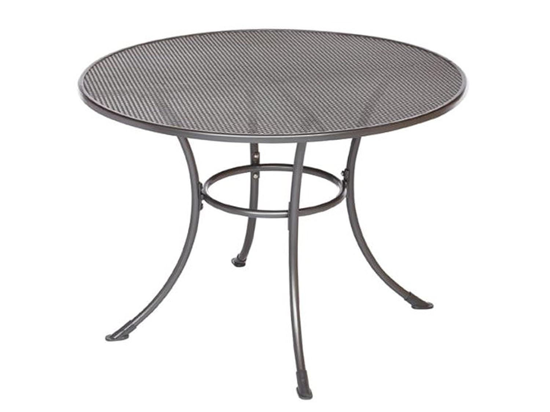 GARDENho.me Streckmetall Tisch BAKI Gartentisch mit stabilem Rundrohrgestell, eisengrau, ca. 105 cm Ø rund