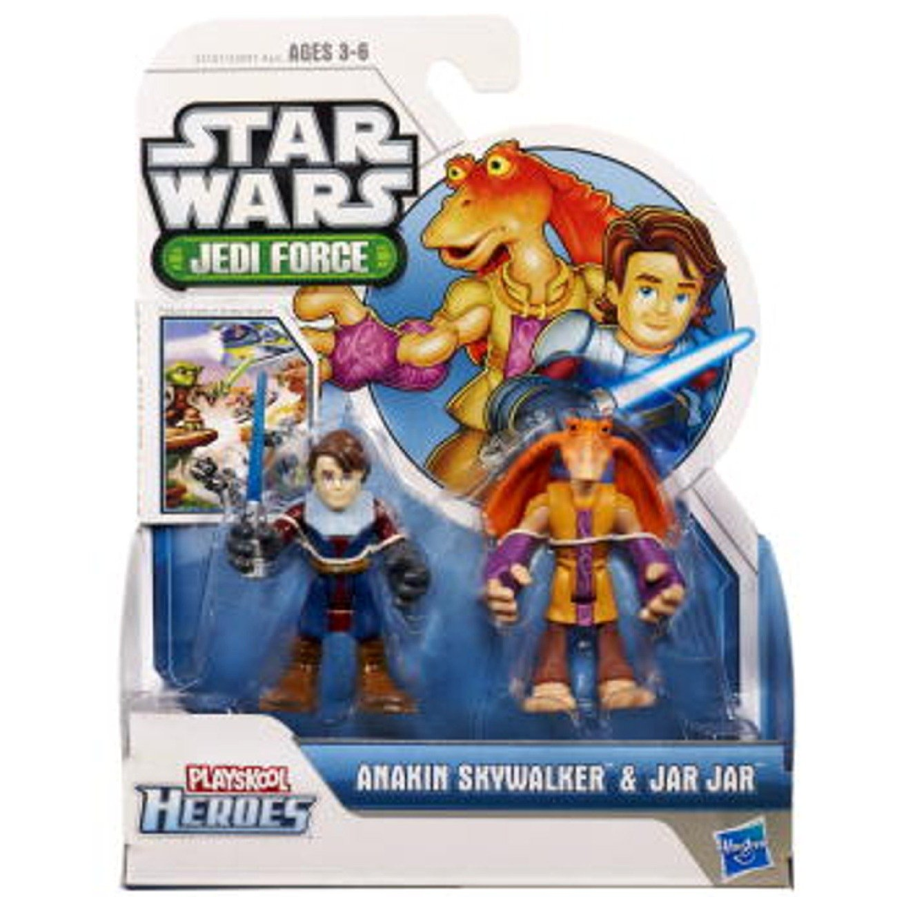 Playskool Heroes Star Wars Jedi Force 2-Pack - Anakin and Jar Jar- aus den USA