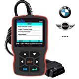 CREATOR C501 OBD2 Diagnostic Scanner for BMW Mini Cooper Check Engine Light EPB ABS SRS Code Reader with OBD II Communication Modes 1-10