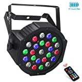 LaluceNatz 24LEDs RGBW Battery Powered Wireless LED Par Lights for Stage Lighting with DMX512 and Remote Controlled for Wedding Up lighting DJ Lights (Color: Battery 24LED Par Lights)