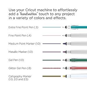 Cricut Metallic Color Pen Set