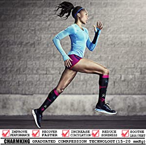 CHARMKING Compression Socks 15-20 mmHg is BEST Graduated Athletic & Medical for Men & Women Running, Travel, Nurses, Pregnant - Boost Performance Blood Circulation & Recovery(Large/X-Large,Assorted 1) (Color: 01 Navy/Gray/Black/Blue/Navy/White/Black/Blue, Tamaño: Large/X-Large (US Women 8-15.5/US Men 8-14))