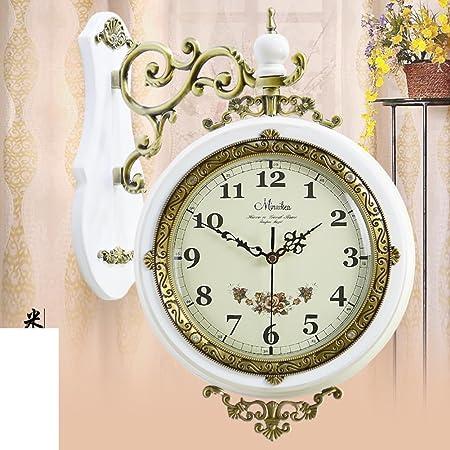 Orologio da parete retro soggiorno stile europeo/Moderno in legno antico padiglione orologio silenzioso/Pastorale creative tavolo-D 20pollice