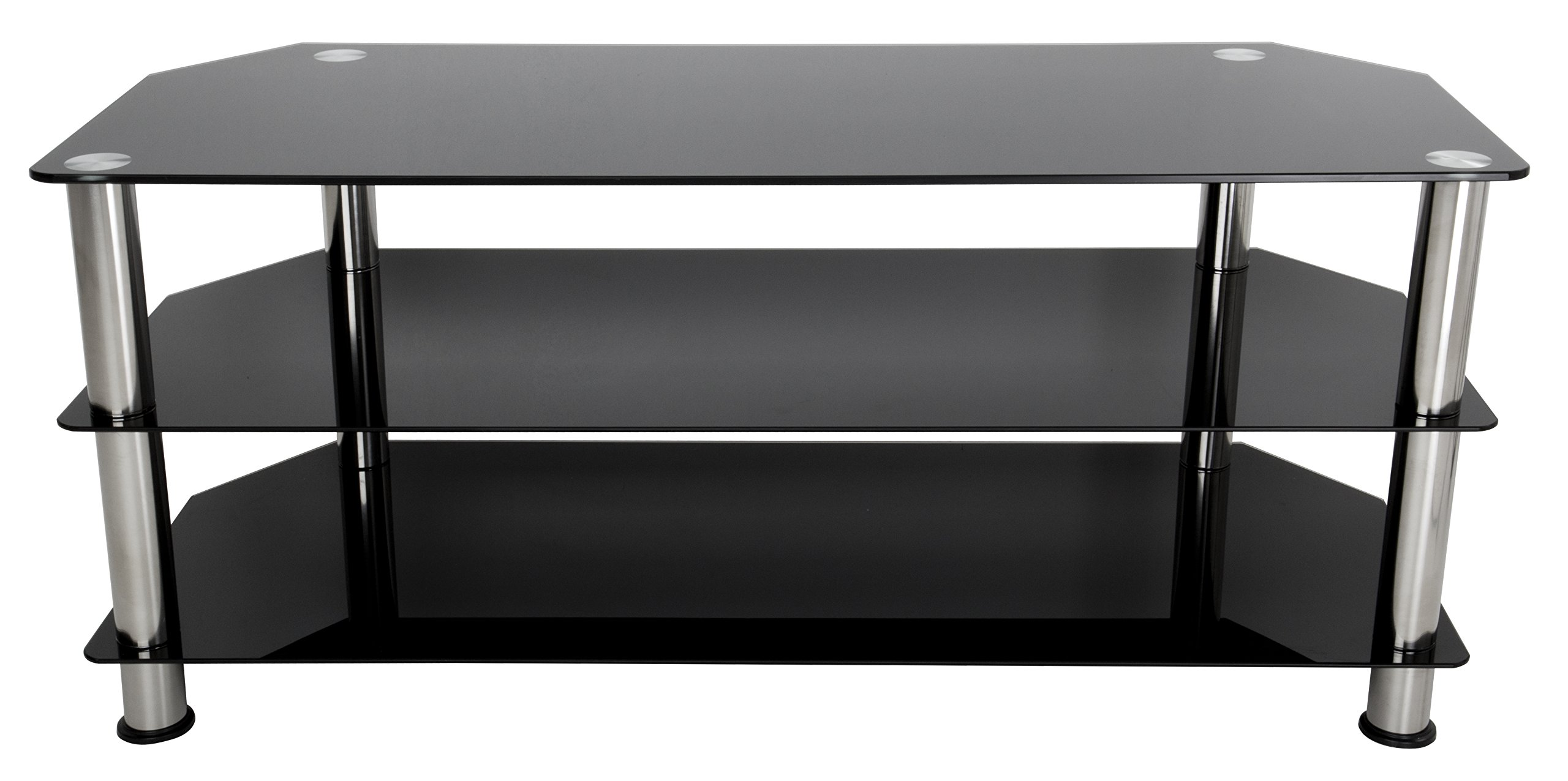 AVF SDC1140 A TV Stand For Up To 55 Inch TVs Black Glass