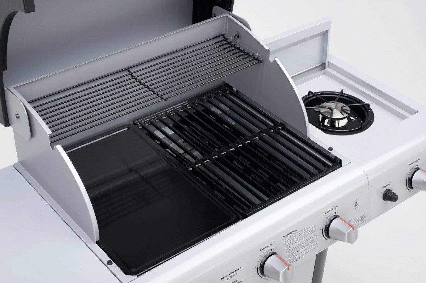 barbecue gaz gris 5 bruleurs plancha landmann cronos 12774