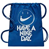 NIKE Heritage Gym Sack (One Size, Gym Blue/White/Graphic) (Color: Gym Blue/White/Graphic, Tamaño: One Size)