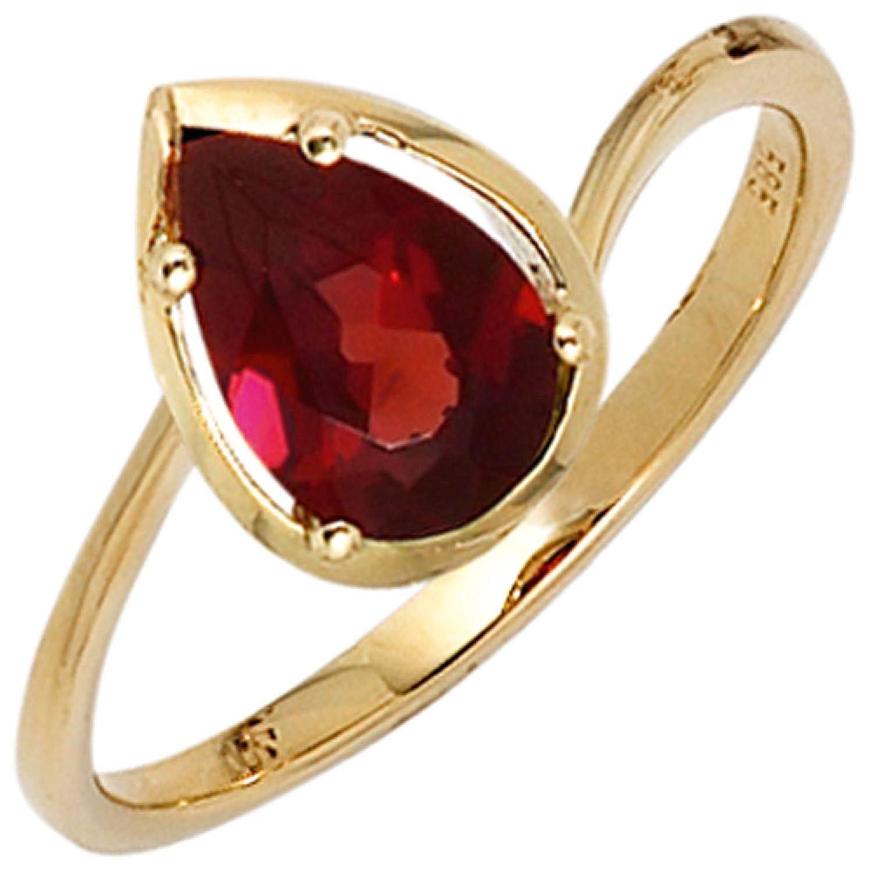 Damen-Ring 585 Gelbgold 1 Granat als Geschenk