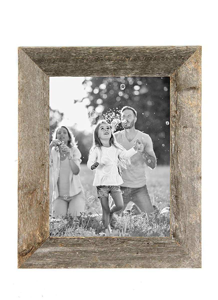 Barnwoodusa rustic 11x14 inch picture frame with 2 inch wide barnwoodusa rustic 11x14 inch picture frame with 2 inch wide molding 100 reclaimed wood weathered gray jeuxipadfo Images