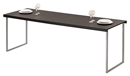Beat Collection Butterfly - Mesa de centro, acero cromado mate 70 x 120 x 40 cm, color wenge R3