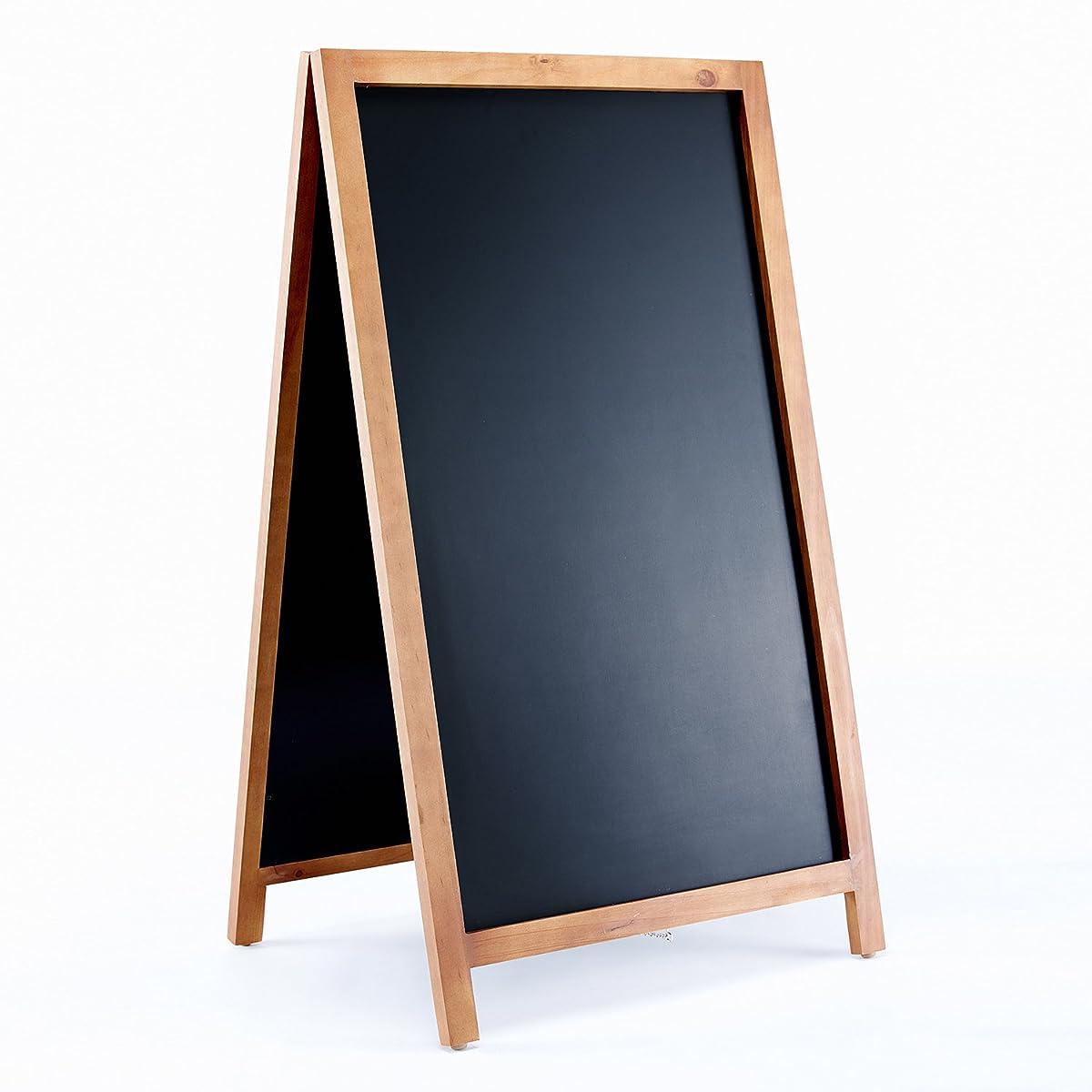 """Vintage Wooden Magnetic A Frame Chalkboard Sign for Sidewalk, Restaurant, Cafe, Bar - 42""""x24"""" by VersaChalk"""